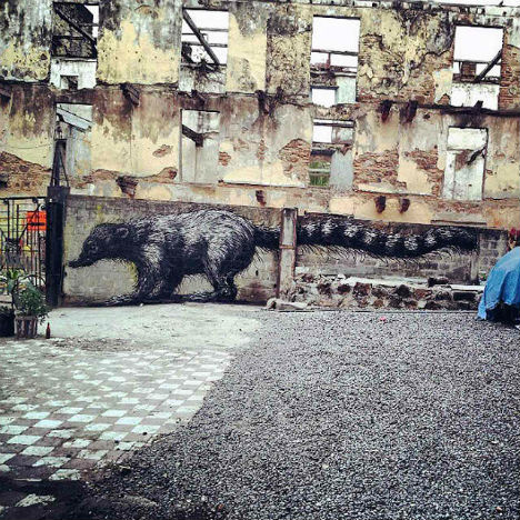 ROA Panama City Street Art 4