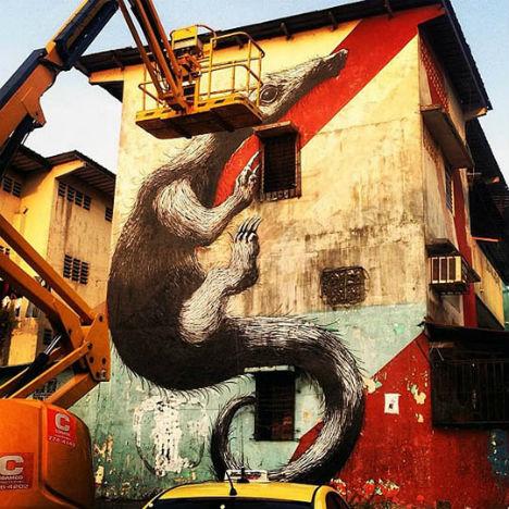 ROA Panama City Street Art 6