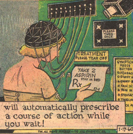 Retrofuturistic Gadgets Medical Examination Machine