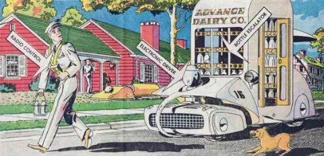 Retrofuturistic Gadgets Milkman Robot