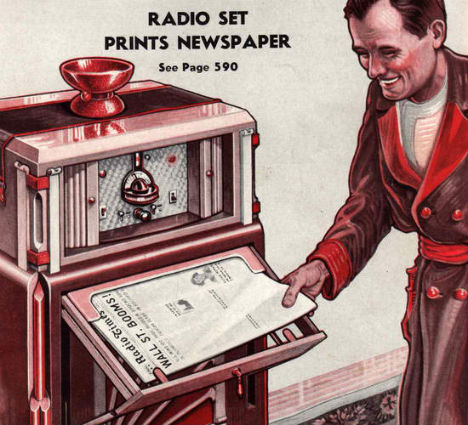 Retrofuturistic Gadgets Radio Prints Newspaper