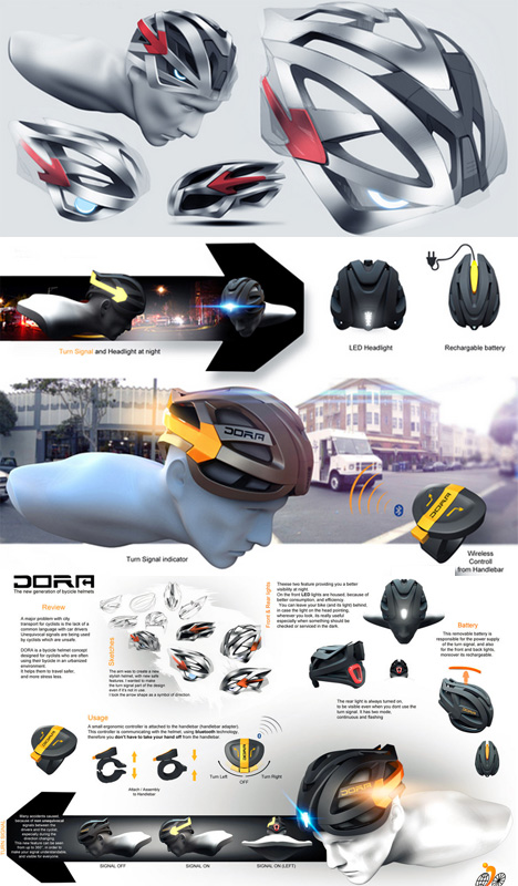 bike helmet design diagrams