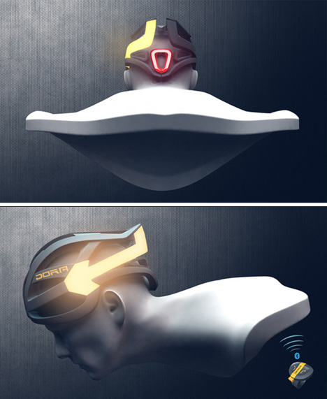 bike helmet light controls