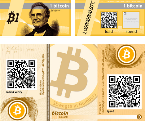 bitcoin paper currency notes