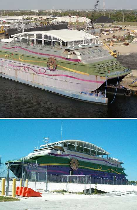 The Big Easy abandoned casino ship