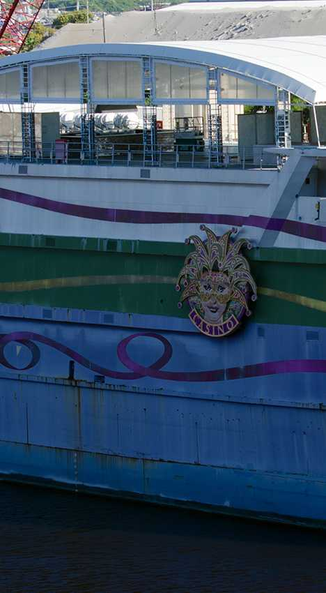 abandoned casino boat The Big Easy