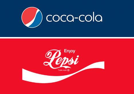 coke pepsi logo swap