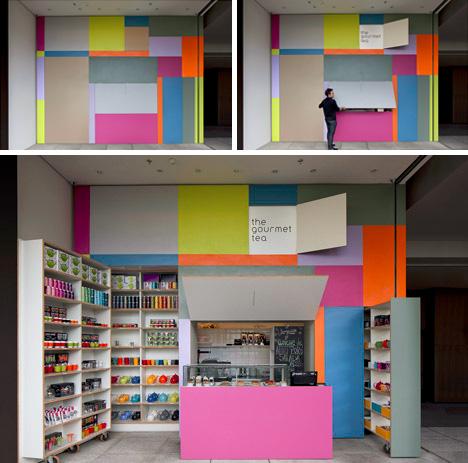 colorful modular street vendor