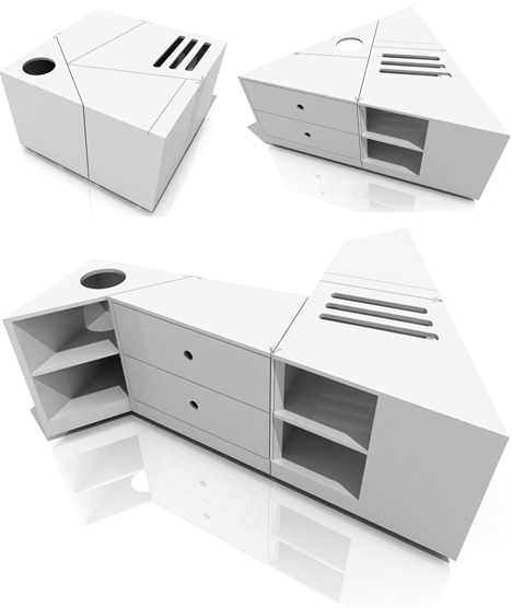 dtable modular rotating design