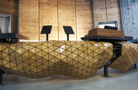 flexible wood mesh furniture