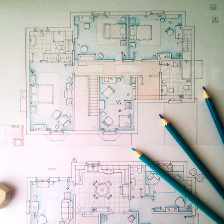 Seen Floor Plans From Famous Television Series