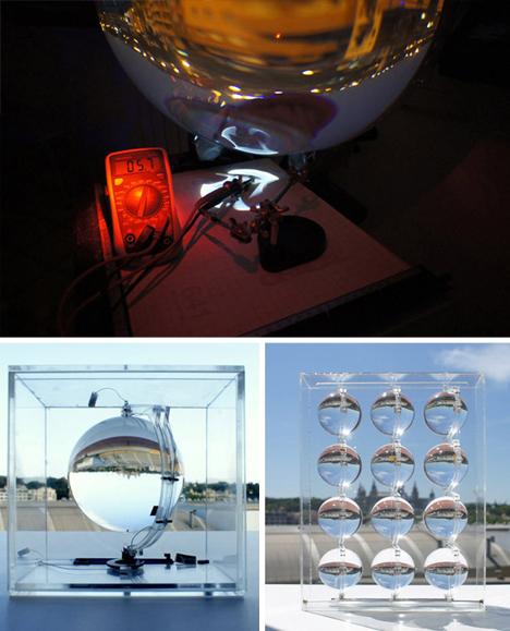 lunar solar collecting ball