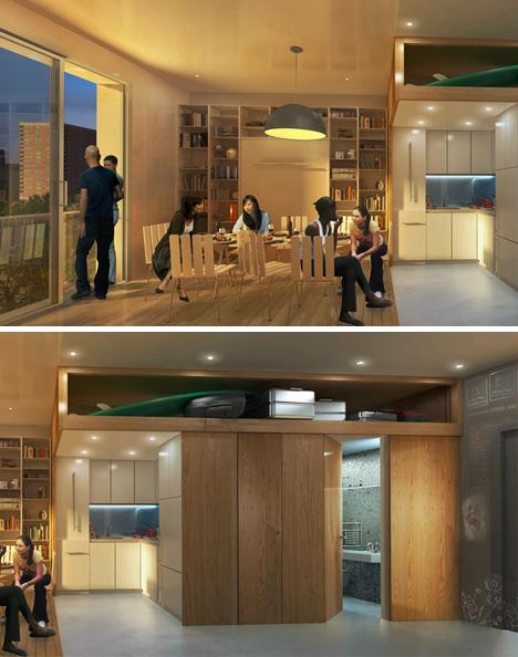 nyc small apartment scene