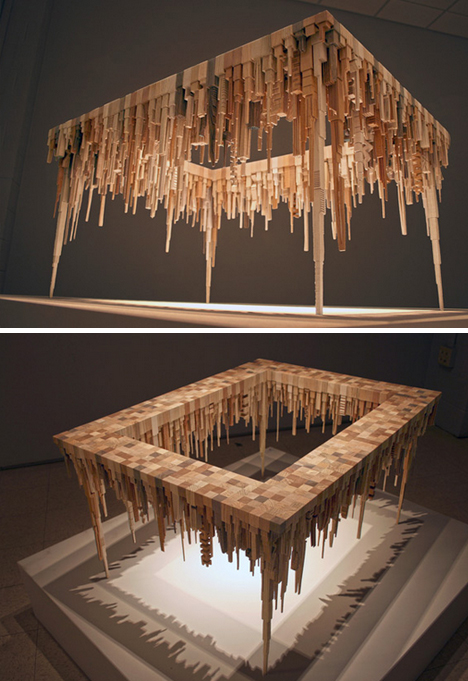 offcut wooden shadow table