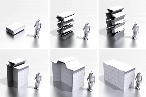 origami inspired instant architecture