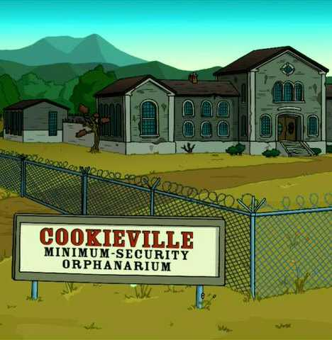 Futurama Cookieville Orphanarium orphanage