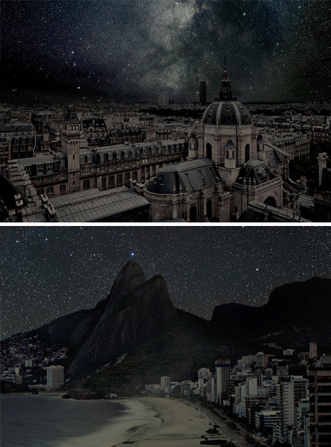 pitch dark night space