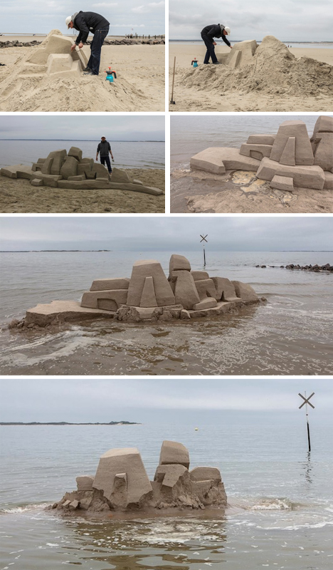 sand graffiti start finish