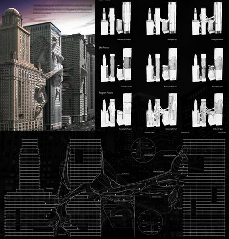 skyscraper morphing skin diagrams