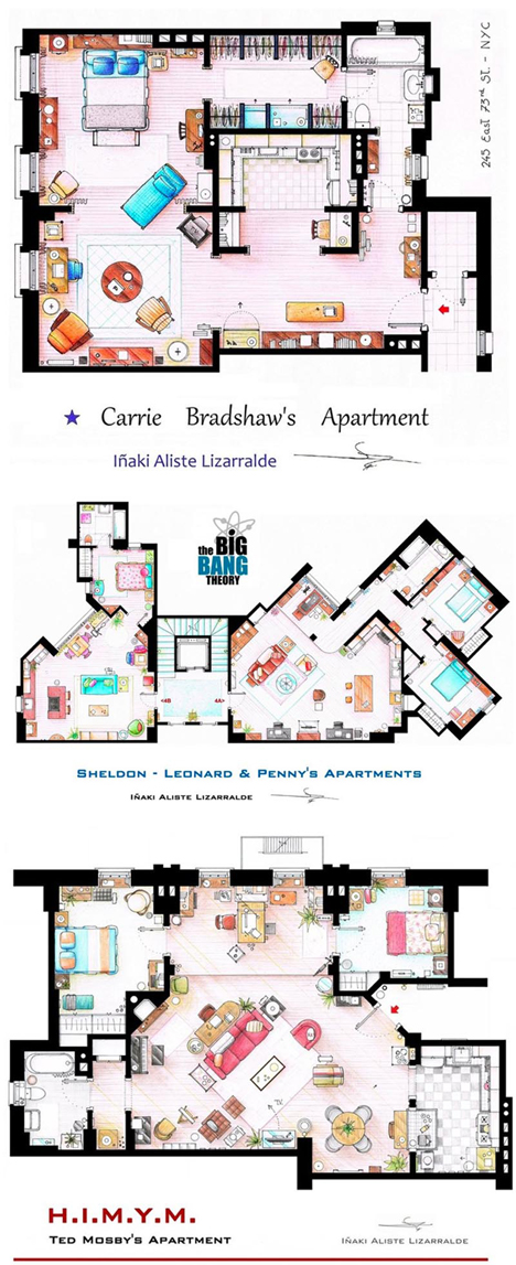 television show floor plans
