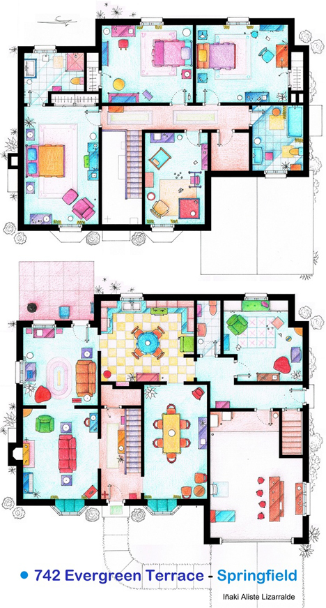 telivision simpsons house