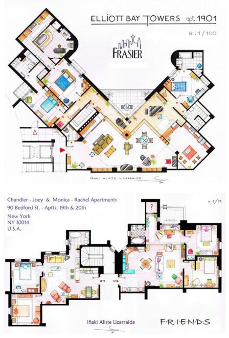telivision sitcom interior plans