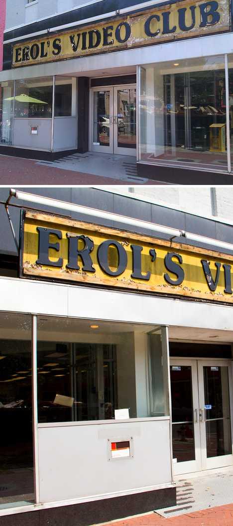 Erol's Video Club abandoned video store Washington DC