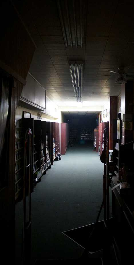 abandoned video store
