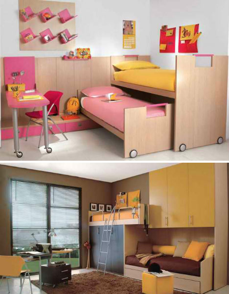 Kids rooms rule 32 creative fun bedrooms for children - Childrens small bedroom furniture solutions ...