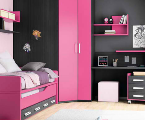 Kids rooms rule 32 creative fun bedrooms for children - Space saving ideas for small kids bedrooms plan ...