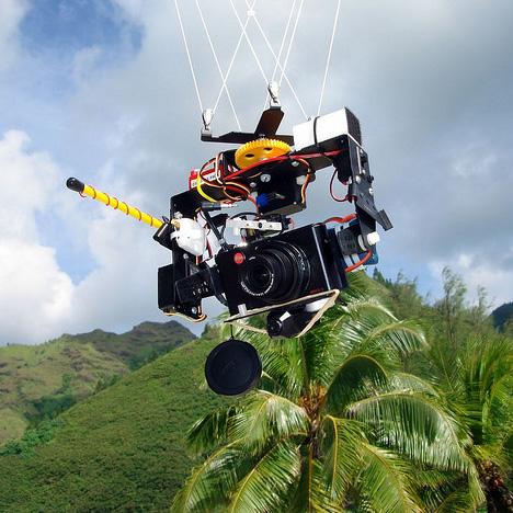 aerial kite camera stabilization