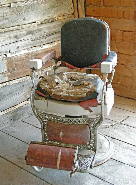 abandoned barber shop Bannack Montana saloon