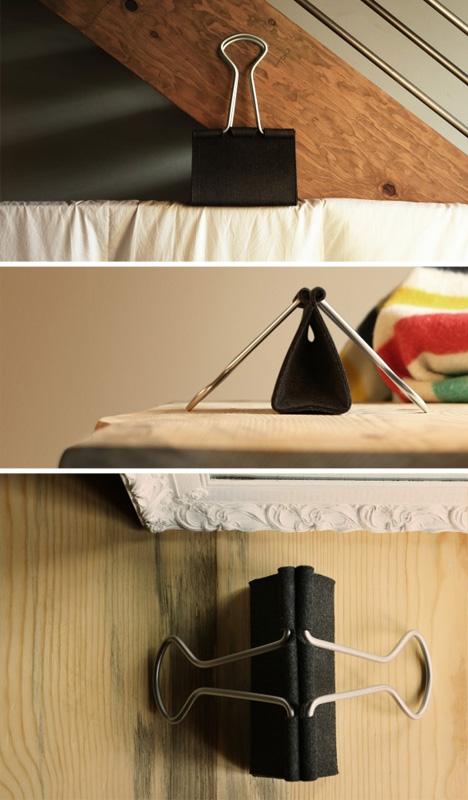 binder bag wood background