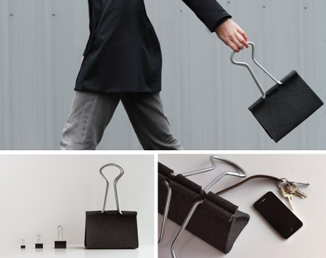 binder clip hand bag
