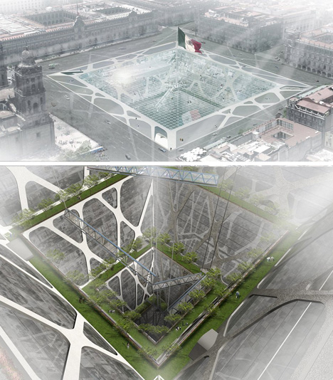 earthscraper subterranean city park
