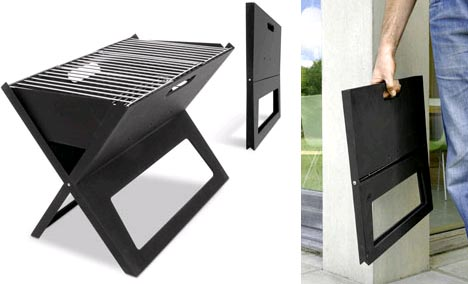21st century cookout 16 modern grills outdoor kitchens for Stand pliant