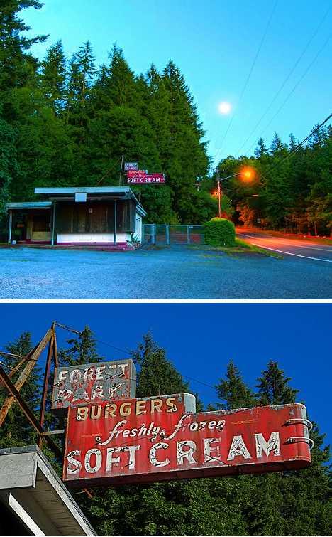 abandoned ice cream shop Portland Forest Park