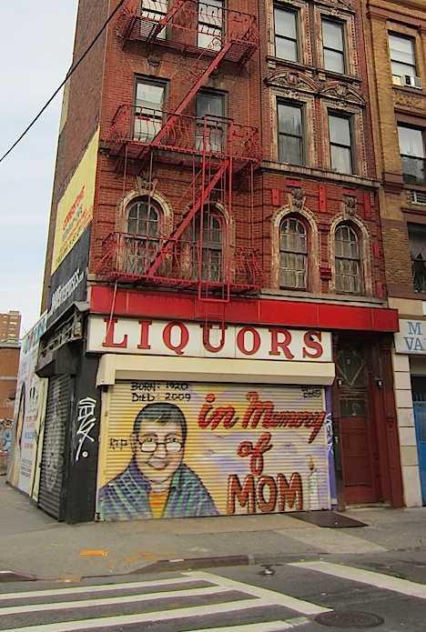 New York City East Vilage Mom abandoned liquor store