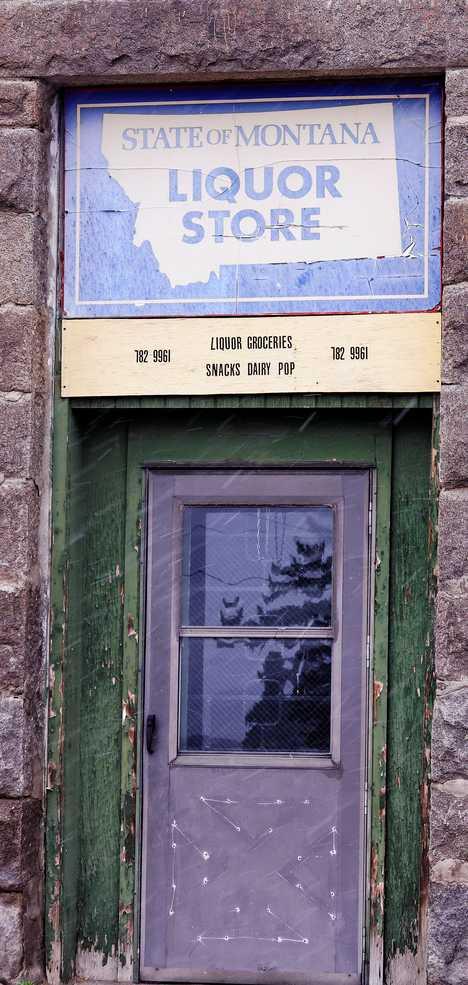 abandoned State of Montana liquor store