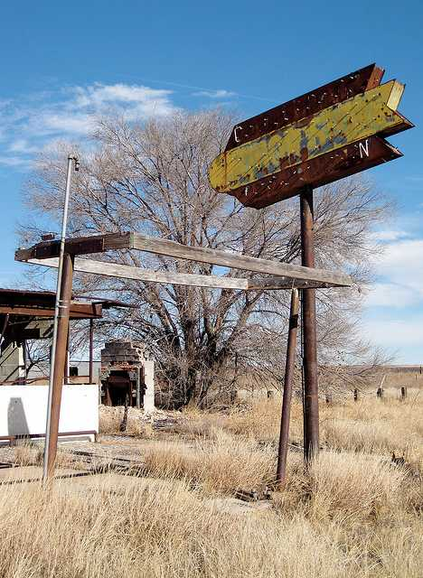 abandoned liquor store Taiban New Mexico