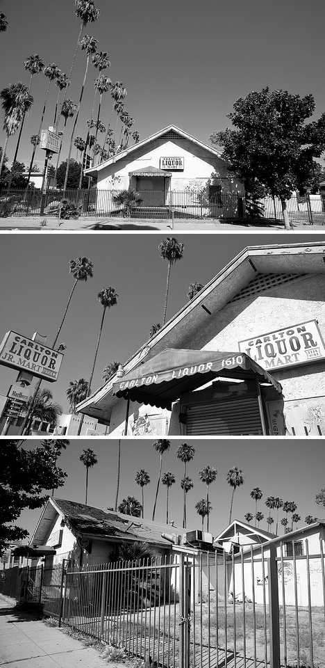 abandoned Carlton liquor store Hollywood Moby