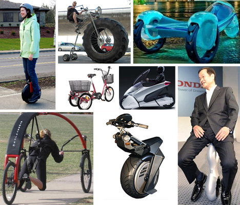 odd wheeled vehicles