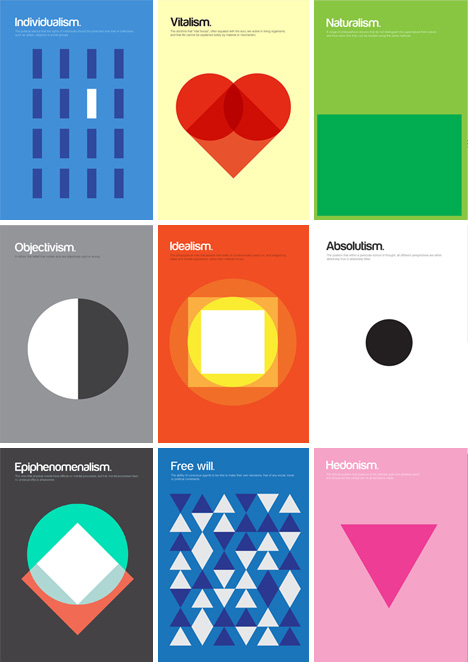 philosophy posters graphic designs