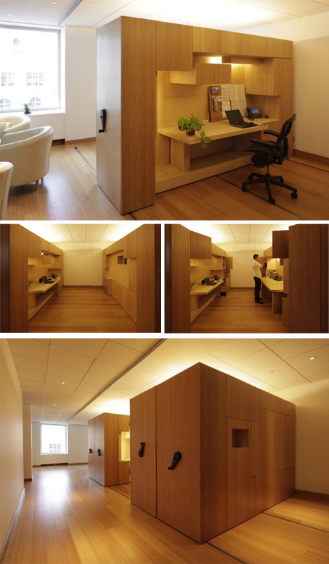 rolling flexible office space