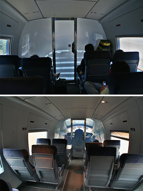 smart glass passenger train