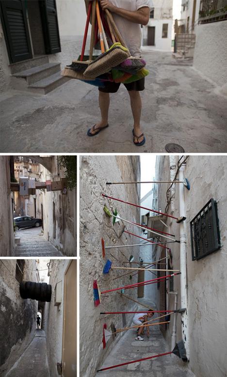 street alley art wedging