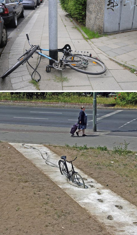street art impossible bicycles