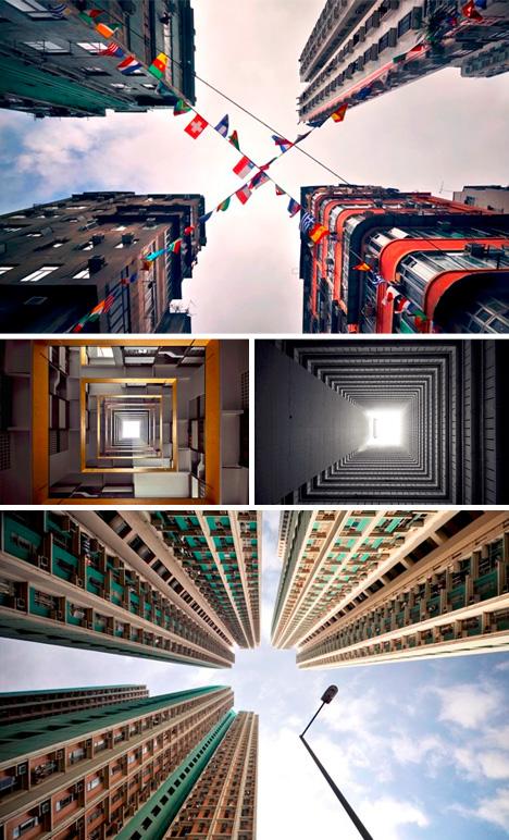 vertical urban photo shoot