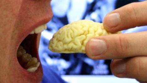 3D Food Chocolate Brain