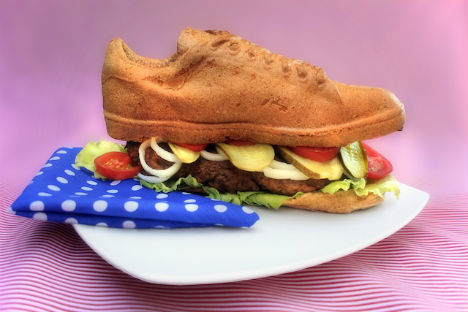 3D Food Shoe Burger